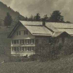 Schnepfau Schnepfegg Gasth. z. Ochsen, Gopfspitze 1113 m / K. Hiller von Hiller, Kaspar