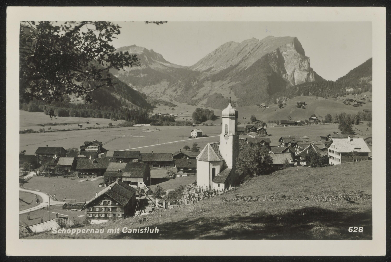Schoppernau mit Canisfluh / Aufnahme von Risch-Lau