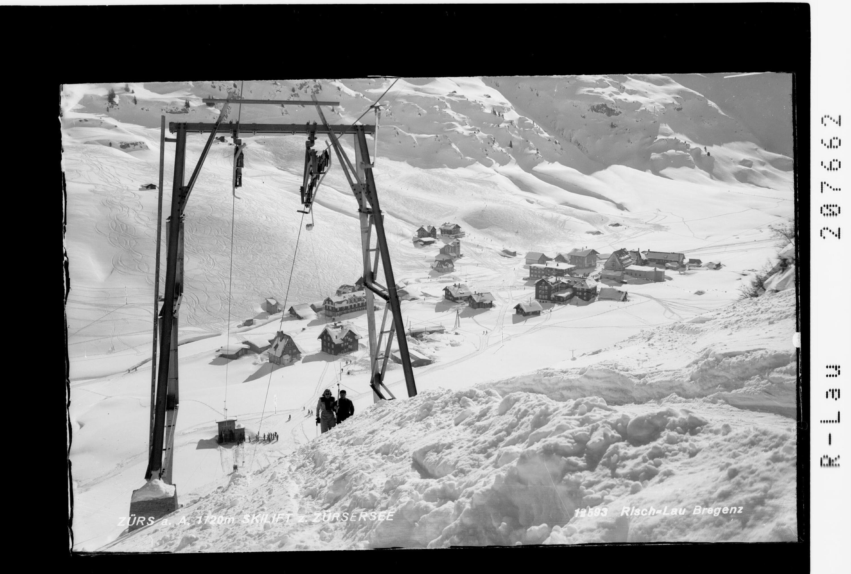 Zürs am Arlberg 1720 m / Skilift zum Zürsersee von Risch-Lau