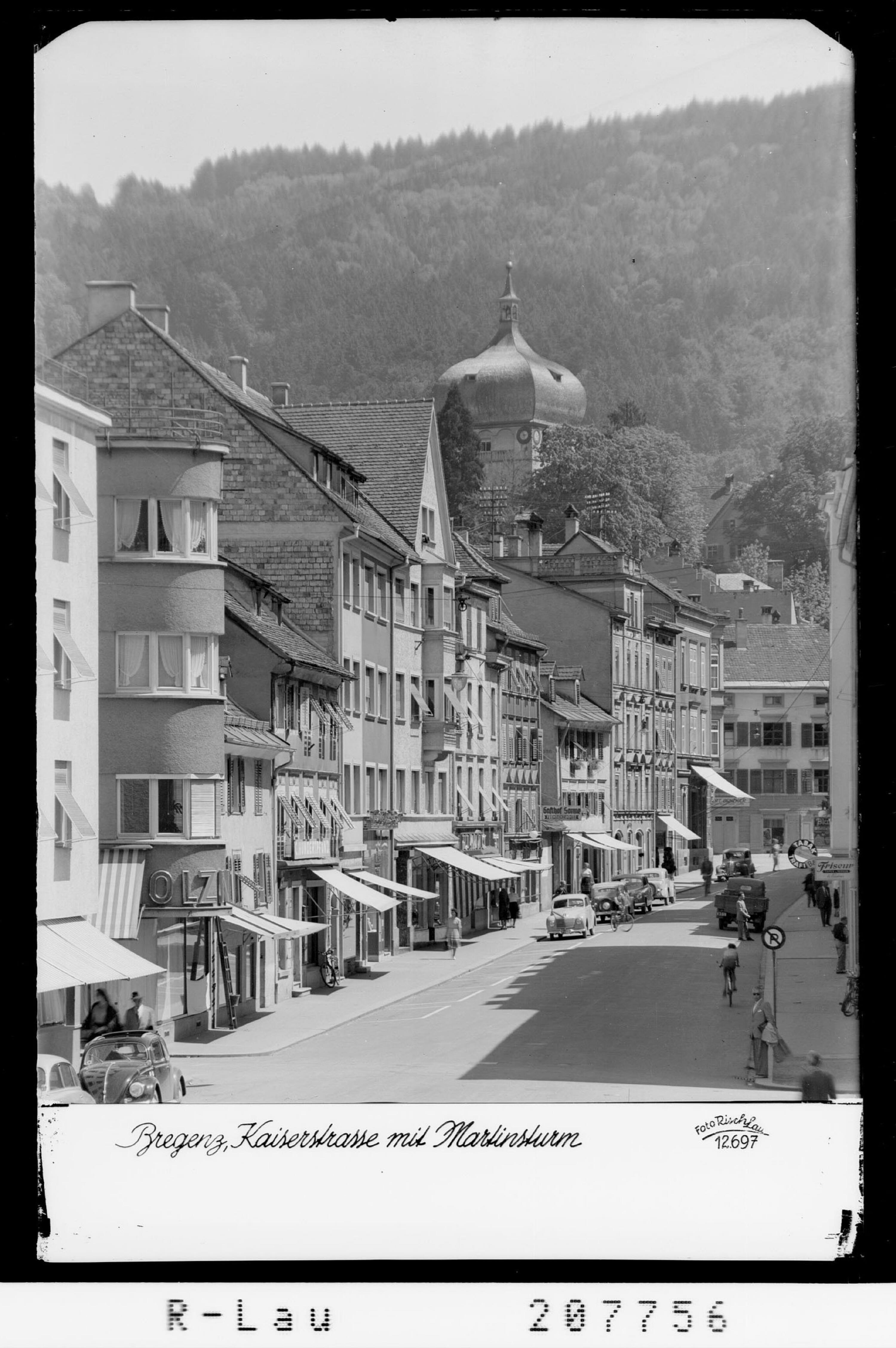 Bregenz / Kaiserstrasse mit Martinsturm von Risch-Lau