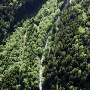 Satteins - Rankweiler Straße Richtung Schwarzer See von Amt der Vorarlberger Landesregierung Abteilung Raumplanung