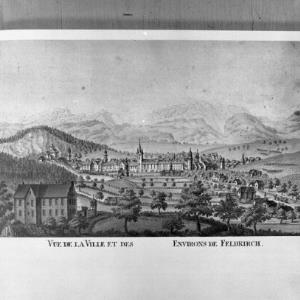 Feldkirch, Repro alter Stich / Helmut Klapper von Klapper, Helmut