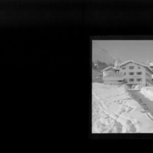 Haus Sebastian in Lech am Arlberg mit Spuller Schafberg und Mehlsack von Risch-Lau