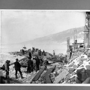 Wasserbauamt, Bau Molo 1890/91 (Repros) / Helmut Klapper von Klapper, Helmut