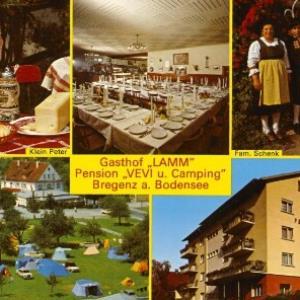 """Gasthof """"Lamm"""" Pension """"Vevi u. Camping"""" / Aufnahme von Branz von Branz, ..."""