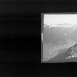 Blick auf Schoppernau mit Falzer Kopf - Grünhorn und Üntschenspitze von Risch-Lau