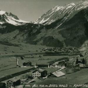 Au, 796 m. Breg. Wald m. Kanisfluh u. Korbschrof. / Heim von Heim, ...