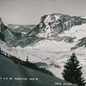 Schigebiet Au m. Kanisfluh 2047 m / Hiller von Hiller, ...