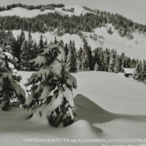 Schwarzenberg Lustenauerhütte am Klausberg, mit Hochälpele / Nipp von Nipp, ...