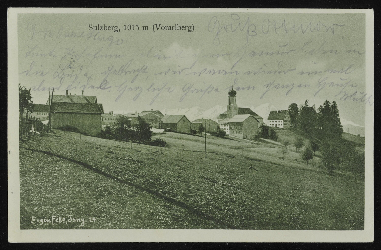Sulzberg, 1015 m (Vorarlberg) / Eugen Felle, Jsny 24 von Felle, Eugen