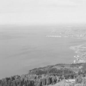 Bregenz am Bodensee Blick gegen Lindau von Risch-Lau