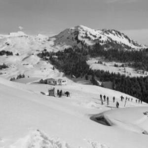 Damüls, Skigebiet Jausenstation Sunnegg Bregenzerwald von Risch-Lau