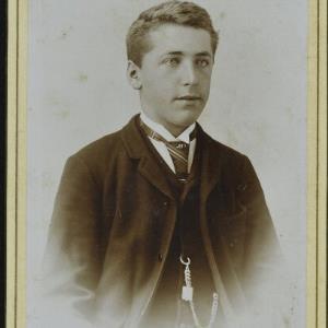 Bildnis eines unbekannten Jungen von Mayer, Peter
