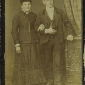 Bildnis einer unbekannten Frau und eines unbekannten Mannes von Mayer, Peter