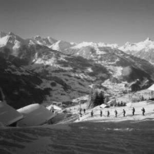 Schruns, Mittelstation - Kropfen mit Blick gegen Rhätikon Vorarlberg von Risch-Lau
