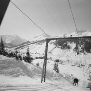 Stubenbach bei Lech am Arlberg / Skilift gegen Spuller Schafberg und Mohnenfluh von Risch-Lau