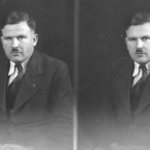 Porträtfoto eines Mannes / Josef Wilhelm Purtscher von Purtscher, Josef Wilhelm