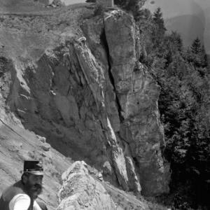 Aufnahme von Felsformationen / Josef Wilhelm Purtscher von Purtscher, Josef Wilhelm