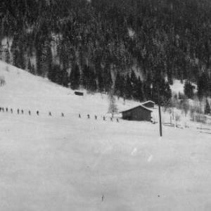 Aufnahme von der Ortsparzelle Poller in Dalaas 4 / Josef Wilhelm Purtscher von Purtscher, Josef Wilhelm