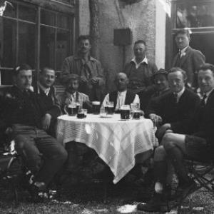 Gruppenfoto mit Wilhelm Purtscher / Josef Wilhelm Purtscher von Purtscher, Josef Wilhelm