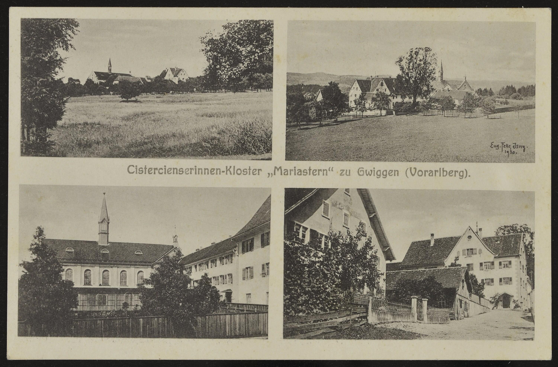 """Hohenweiler Cistercienserinnen-Kloster """"Mariastern"""" zu Gwiggen (Vorarlberg) / Eug. Felle Jsny. 1930 von Felle, Eugen"""