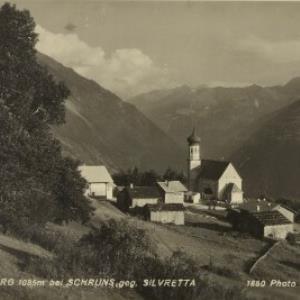 Bartholomäberg 1085 m bei Schruns geg. Silvretta / Wolf von Wolf, ...