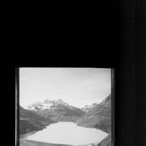 Bieler Höhe / Alpengasthof Piz Buin am Silvrettasee gegen Ochsental und Klostertal von Risch-Lau