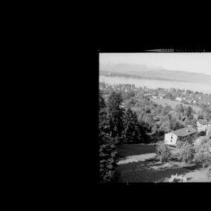 Blick von Schloss Hofen bei Lochau auf den Bodensee und zum Säntis von Risch-Lau