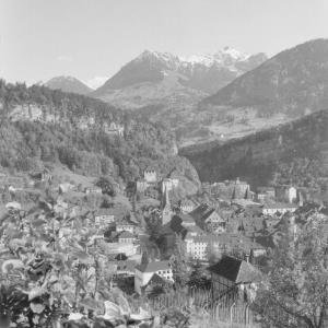 Feldkirch, Vorarlberg gegen Gurtisspitze von Risch-Lau