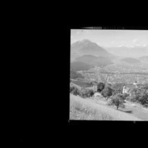 Viktorsberg gegen Schweizer Berge Vorarlberg von Risch-Lau