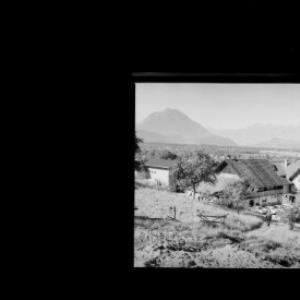 Gasthaus Stern in Klaus mit Drei-Schwestern und Balfrieser Berge von Risch-Lau