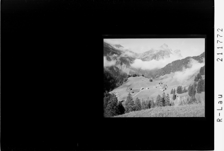 Schröcken Oberboden gegen Künzelspitze 2415 m von Risch-Lau