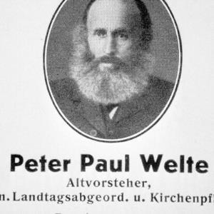 Landtagsabgeordneter Peter Paul Welte / Helmut Klapper von Klapper, Helmut