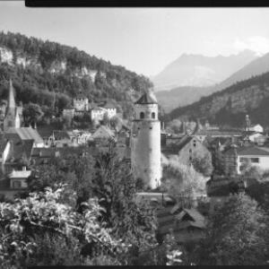 Feldkirch Vorarlberg gegen Gurtisspitze 1781 m von Risch-Lau