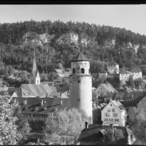 Feldkirch mit Katzenturm und Schattenburg von Risch-Lau