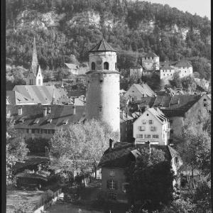 Feldkirch Vorarlberg Schattenburg und Katzenturm von Risch-Lau