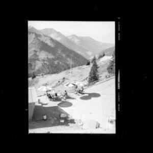 Furkajoch gegen Laternsertal und Walserkamm mit Tälispitze und Hoch Gerach von Risch-Lau