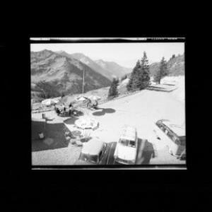 Furkapass 1761 m Blick gegen Hochgerach 1964 m Laternsertal und Schweizer Berge von Risch-Lau