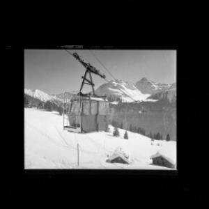 Kristbergbahn gegen Fellimännle und Hochjoch von Risch-Lau