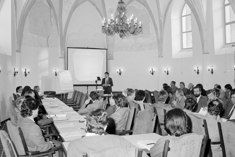 Wirtschaftsseminar in Schloss Hofen / Helmut Klapper von Klapper, Helmut