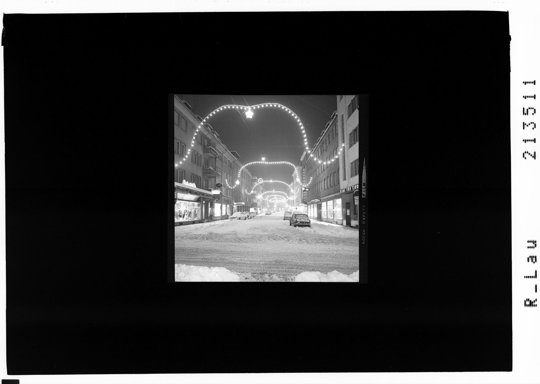 Weihnachtsbeleuchtung in Bregenz - Kaiserstrasse von Risch-Lau