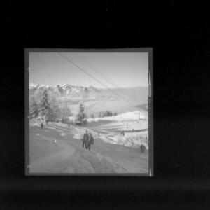 Skilift bei Übersaxen mit Blick zum Hohen Kasten von Risch-Lau