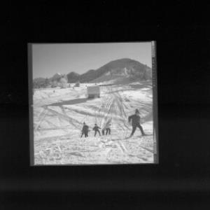 Skilift bei Übersaxen mit Blick zum Hoch Gerach von Risch-Lau