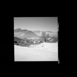 Übersaxen gegen Drei-Schwestern und Balfrieser Berge von Risch-Lau