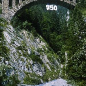 Klösterle, Wäldletobelbrücke (750 Jahre Klösterle) / Helmut Tiefenthaler von Tiefenthaler, Helmut
