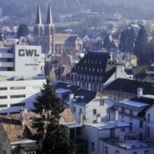 Bregenz, Blick vom Dach Gerberstraße 6 auf Stadtkern / Helmut Tiefenthaler von Tiefenthaler, Helmut