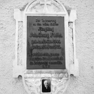 Langenegg, Kirche Unserer Lieben Frau, Grabinschrift / Rudolf Zündel von Zündel, Rudolf