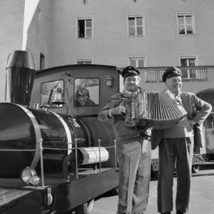 Dornbirn, Einweihung des Stadtbähnles der Kaufmannschaft / Rudolf Zündel von Zündel, Rudolf