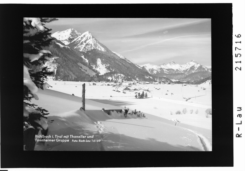 Bichlbach in Tirol mit Thaneller und Tannheimer Gruppe von Risch-Lau