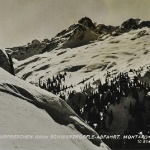 St. Gallenkirch Skigebiet Garfreschen 1500 m Schwarzköpfle-Abfahrt. Montafon / Risch-Lau von Risch-Lau, ...